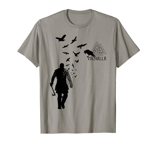 Wikinger Ragnar Lothbrok Walhalla Odin Raben T-Shirt