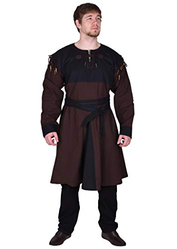 Battle-Merchant Mittelalter Tunika Bent mit abnehmbaren Ärmeln - Mittelalterkleidung - Wikinger - LARP - Hemd - Kostüm...