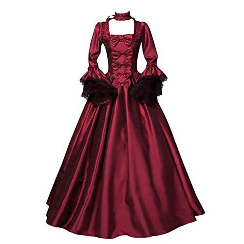 SALUCIA Damen Mittelalter Gothic Kostüm Elegant Retro Kleider Gewand Viktorianisches Renaissance Prinzessin Barock...