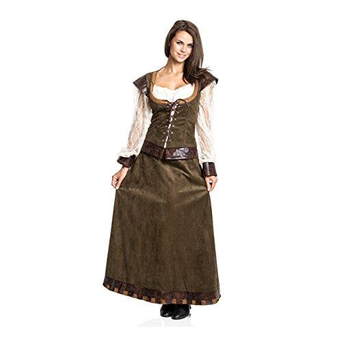 Kostümplanet Mittelalter Kleid Damen Kostüm Burgfräulein mittelalterliche Kleidung 44/46