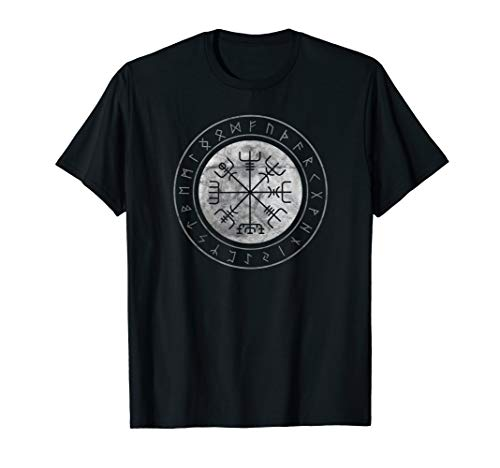 Wikinger Kompass Vegvisir Viking Kelten Germanen Walhalla T-Shirt