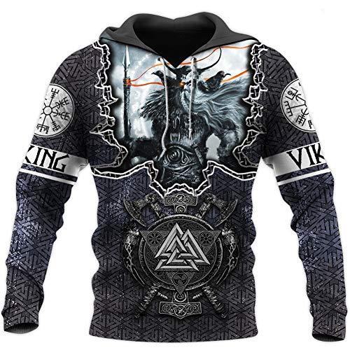 BBYaki Wikinger 3D Pullover Odin Tattoo Norse Mythology Sweatshirt Langarm Fall Men Casual Tops Street Mit Großen...