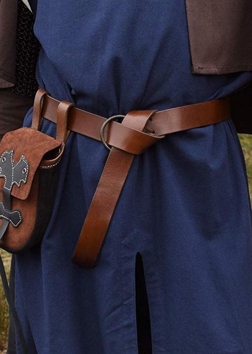 Mittelalter Wikinger Gürtel Herren Männer Leder braun