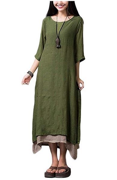 Wikinger Kleid Damen Wikinger Kleidung grün lang