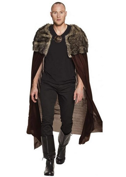 Wikinger Mantel Umhang Wikinger Kleidung braun Herren Männer